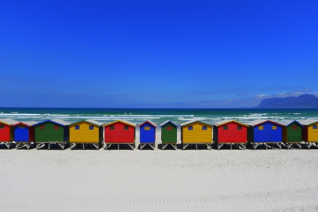 Beach Huts in Muizenberg