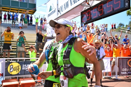 70-Year-Old Gunhild Swanson at the finish of the Western States 100